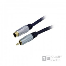 Gold 3M Hq  Premium S-Video Plug To Rca M blister pack